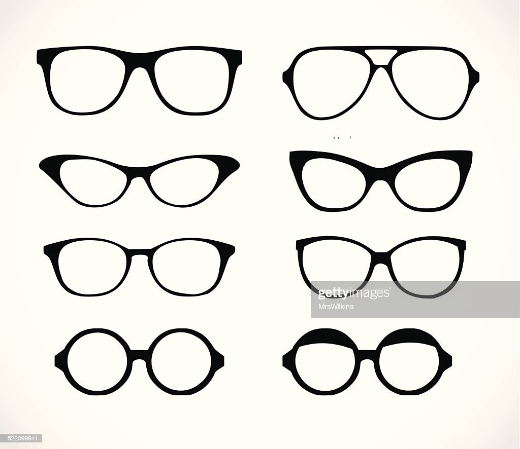 Geek glasses set vector illustration