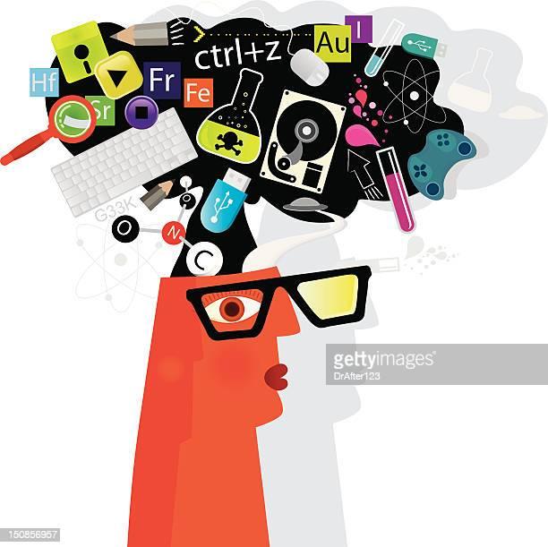 ilustraciones, imágenes clip art, dibujos animados e iconos de stock de tecnología. cabezal - usb cable