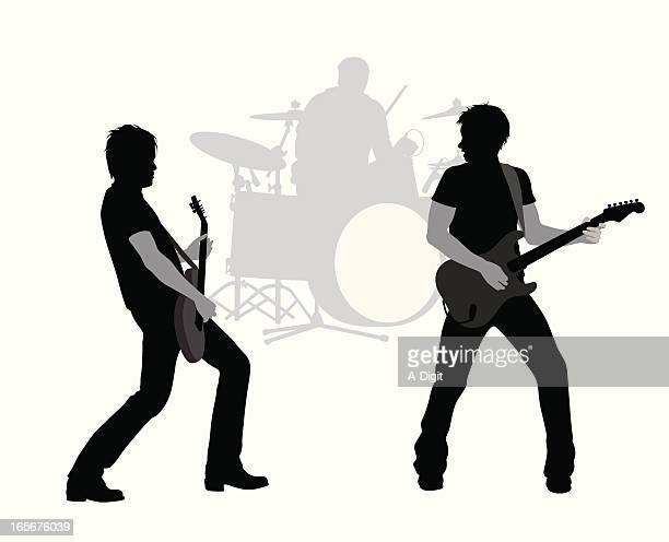 gee-tars vector silhouette - snare drum stock illustrations, clip art, cartoons, & icons