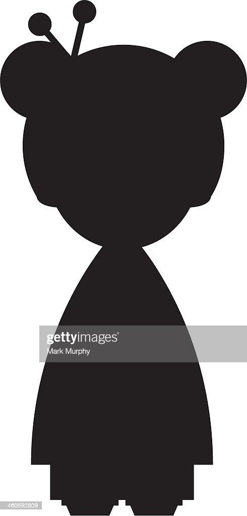 Geisha Girl in Silhouette : stock illustration