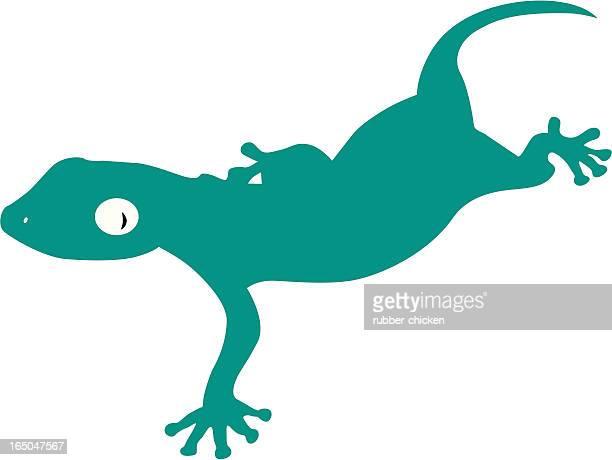 illustrazioni stock, clip art, cartoni animati e icone di tendenza di gekko - geco