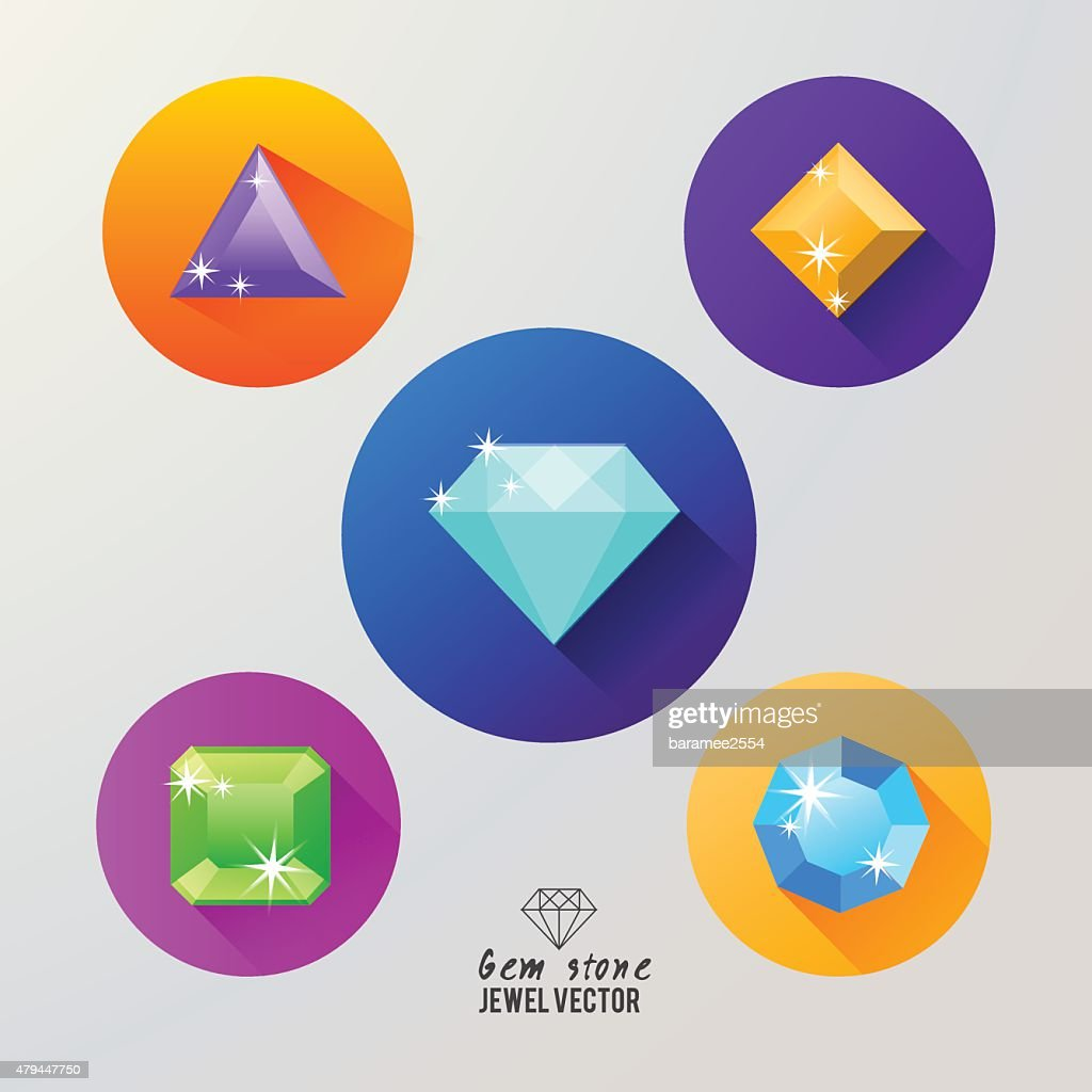 Gem stones icon vector.jewely symbol.