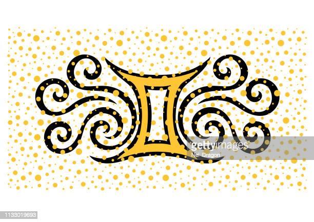 ilustrações, clipart, desenhos animados e ícones de gemini - dourado descrição de cor