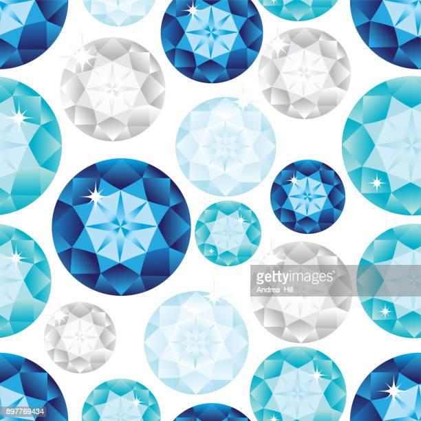 gemstone seamless pattern. vector illustration. - sapphire stock illustrations
