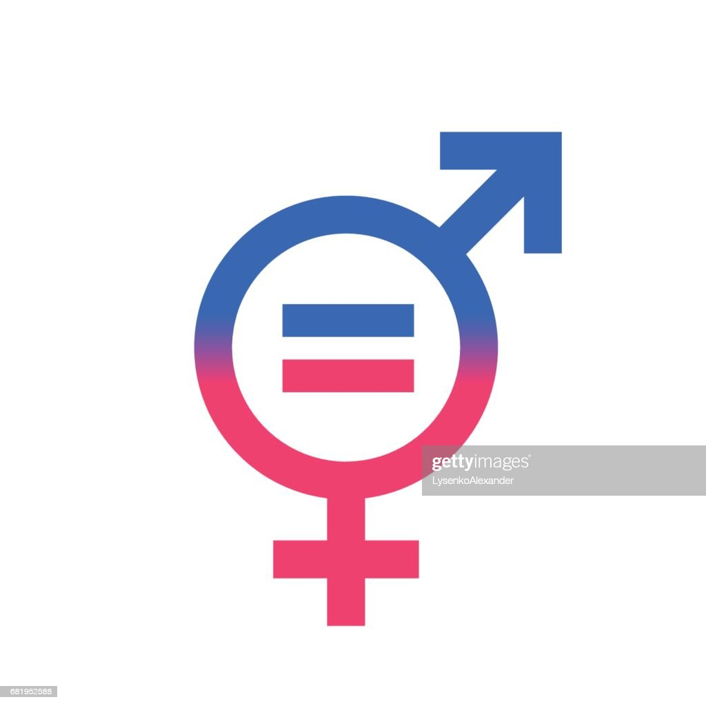 Gender equal sign vector icon.