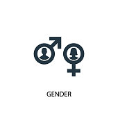 Gender icon. Simple element illustration. Gender concept symbol design. Can be used for web and mobile.