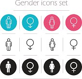 Gender icons set