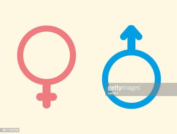 ilustraciones, imágenes clip art, dibujos animados e iconos de stock de iconos de sexo - símbolo de género