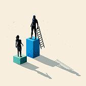Gender inequality Concept