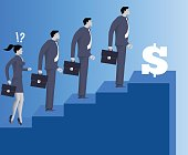 Gender inequality on career ladder