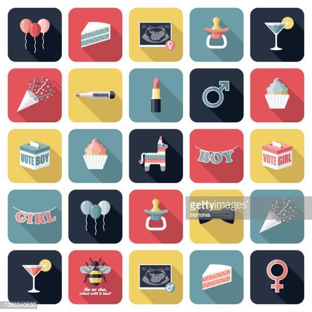 性別の表示アイコンセット - 超音波検査点のイラスト素材/クリップアート素材/マンガ素材/アイコン素材