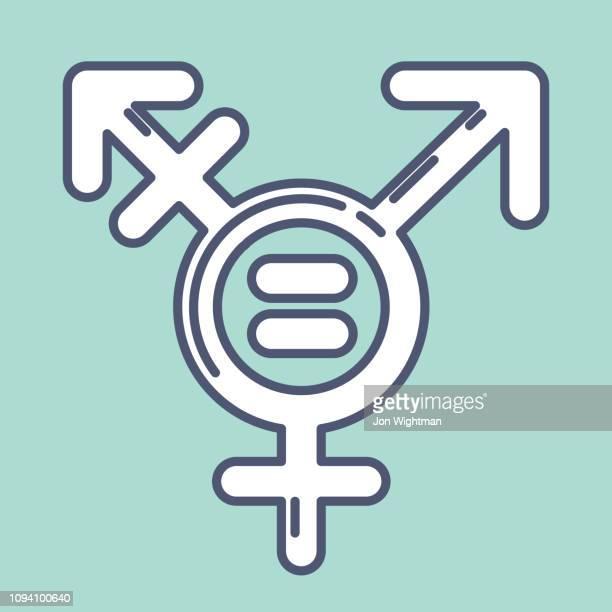 Geschlecht / Sexualität Line Symbol