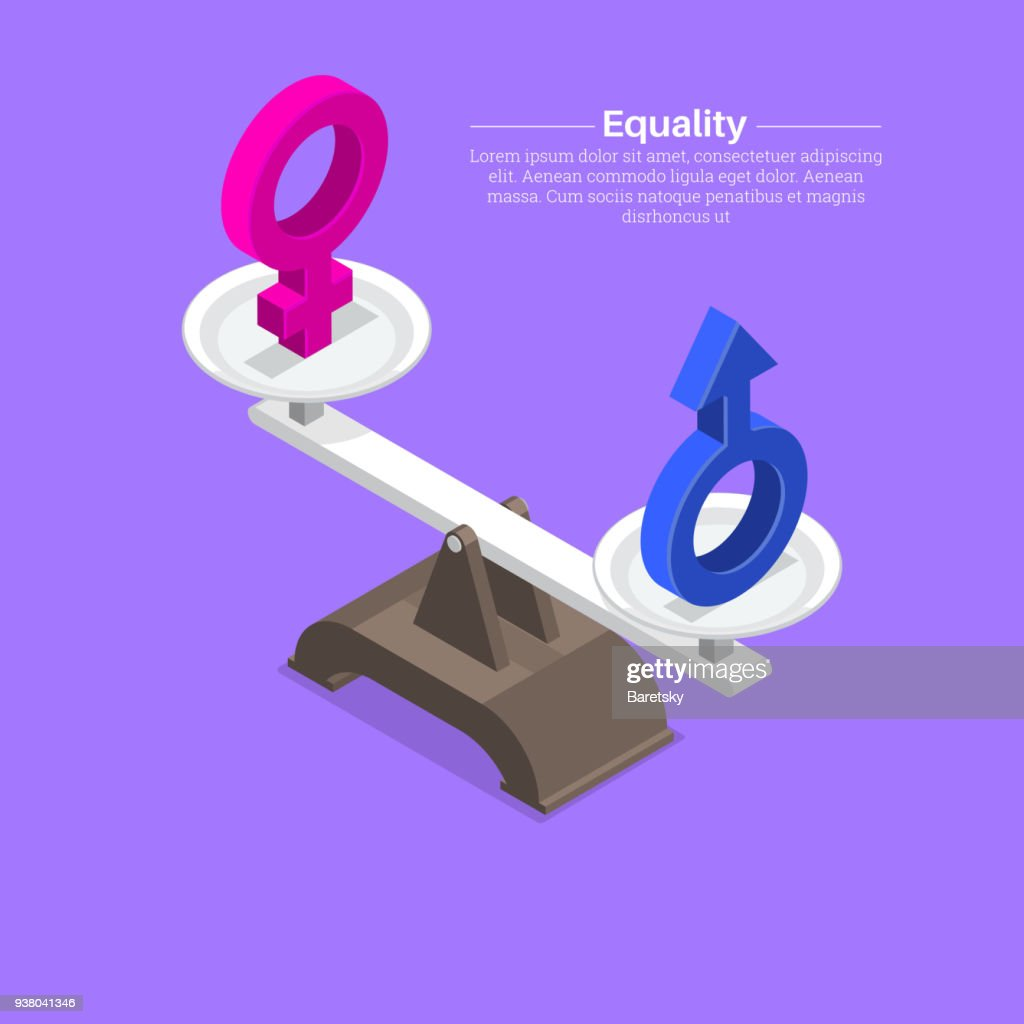 Gender signs on scales