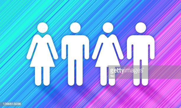 ジェンダースペクトラムピープル - 結婚の平等点のイラスト素材/クリップアート素材/マンガ素材/アイコン素材