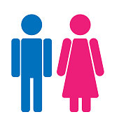 Gender symbol set. Male Female girl boy woman man vector icon.