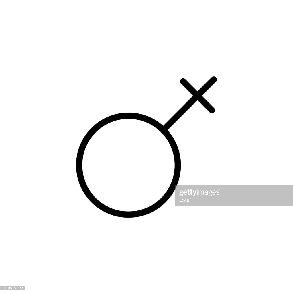 Gender symbol. Venus symbol. The symbol for a female organism or woman. Vector Format.
