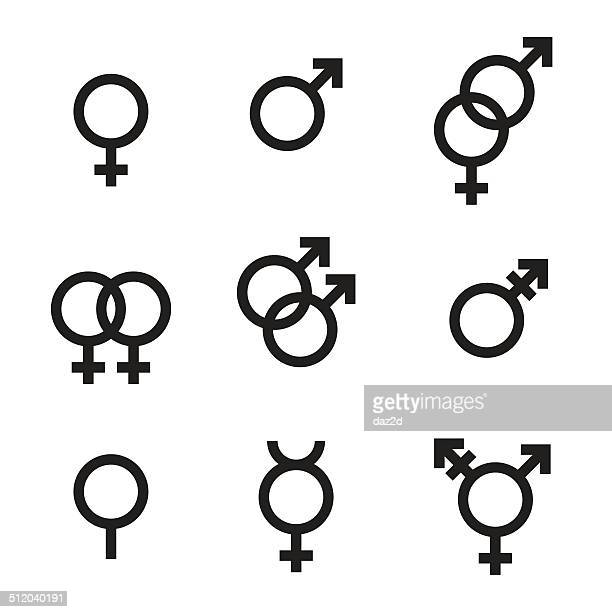 gender symbols - sex and reproduction stock illustrations, clip art, cartoons, & icons