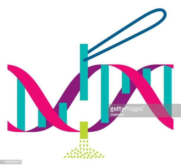 gene therapy symbol - genetic mutation stock illustrations