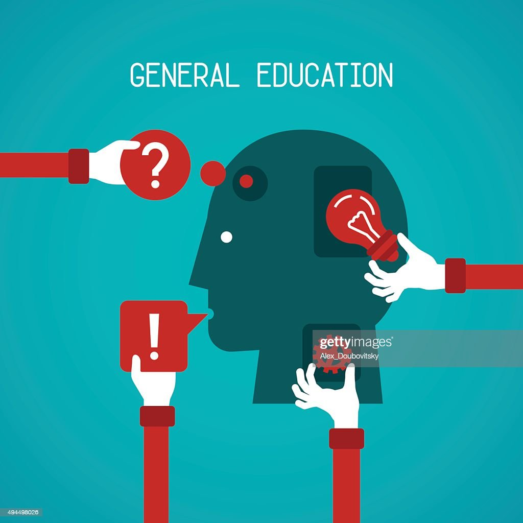 General education and creativity vector concept