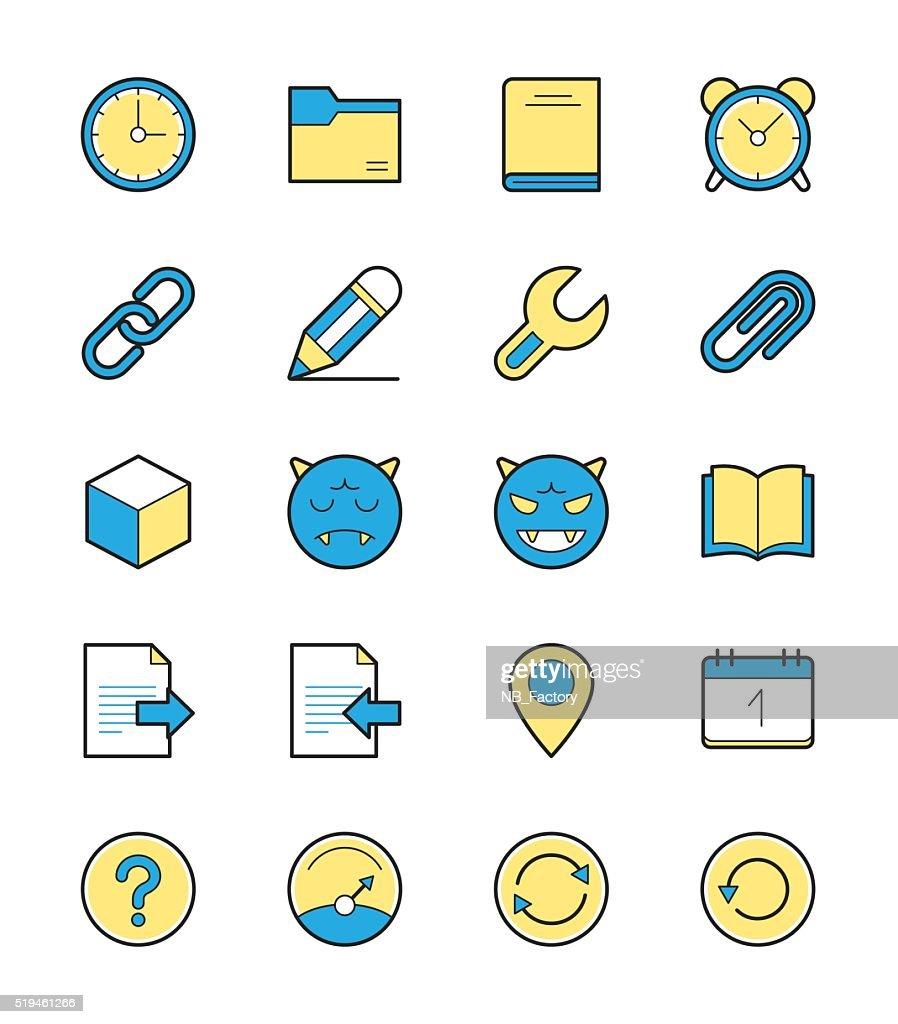 General icon set 2, Monochrome color - Vector Illustration