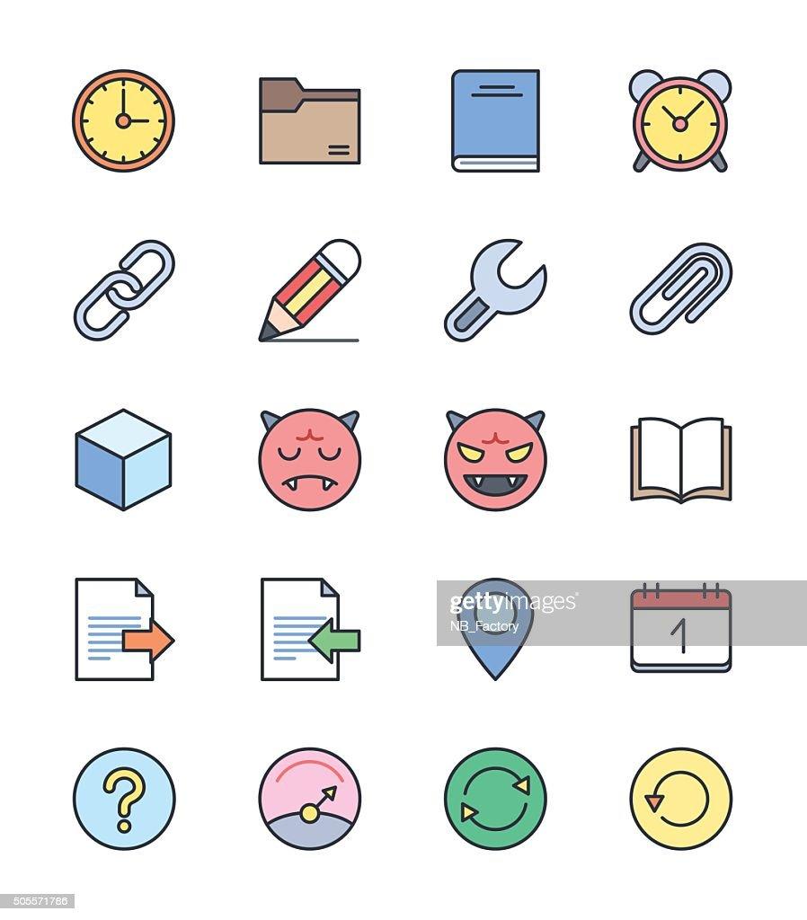 General icons, Color set 2 - Vector Illustration