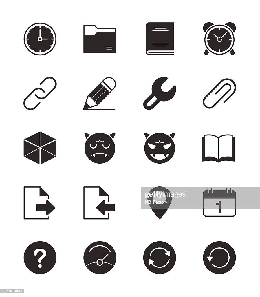 General icons Set 2 on White Background Vector Illustration