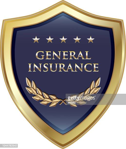 General Insurance Policy Gold Luxury Shield Label