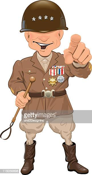 general - army stock illustrations, clip art, cartoons, & icons