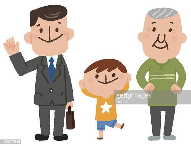 家族のシンプルイラスト 無料 イラストk