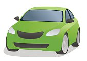 Generic car front view, vector illustration