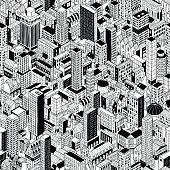 Generic City Seamless Pattern Isometric