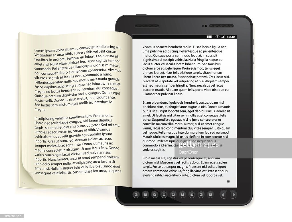 Generic e-book Reader Concept : stock illustration