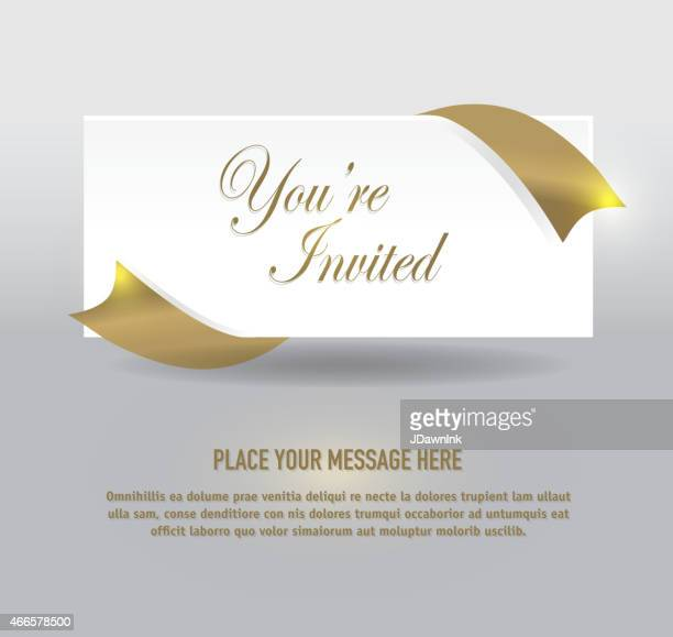 Generic  gold and silver envelope invitation template design