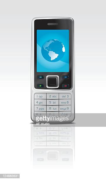 Generic mobile phone with globe