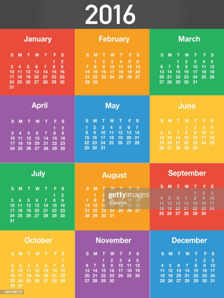 Calendar Design Layout : Generic printable calendar design template layout