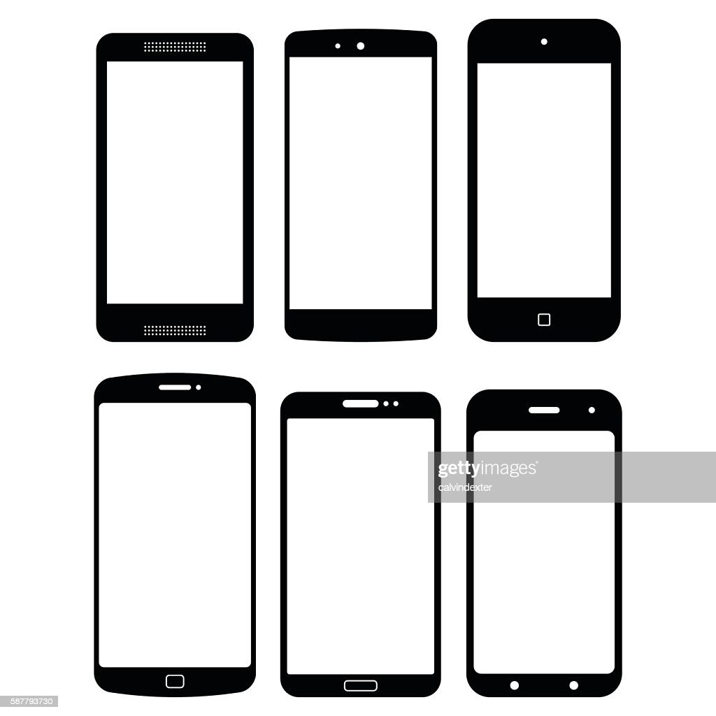 generic smartphone concept designs ベクトルアート getty images