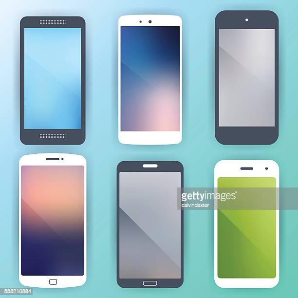 generic smartphone concept designs - collection stock illustrations, clip art, cartoons, & icons