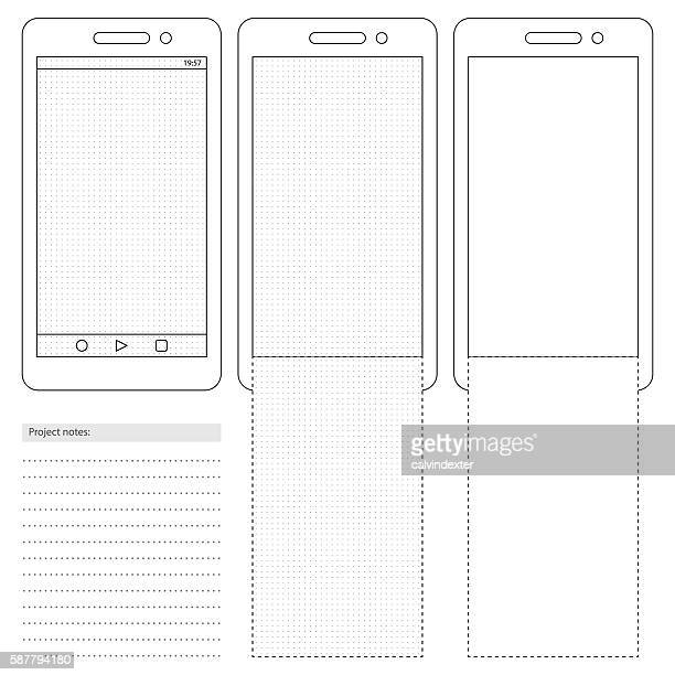 Generic smartphone template with dot grid