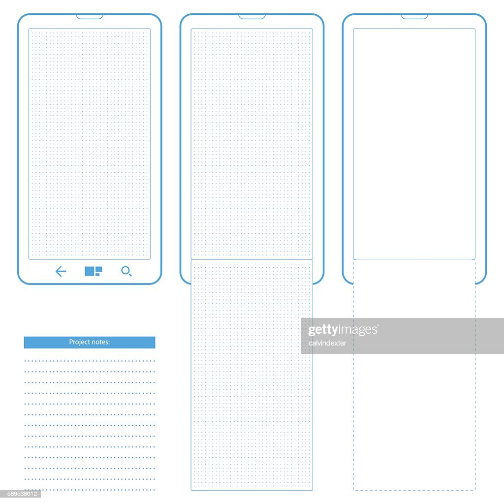 Generic Smartphone Template With Dot Grid Vector Art | Getty Images