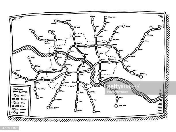 Generic Subway Map Drawing