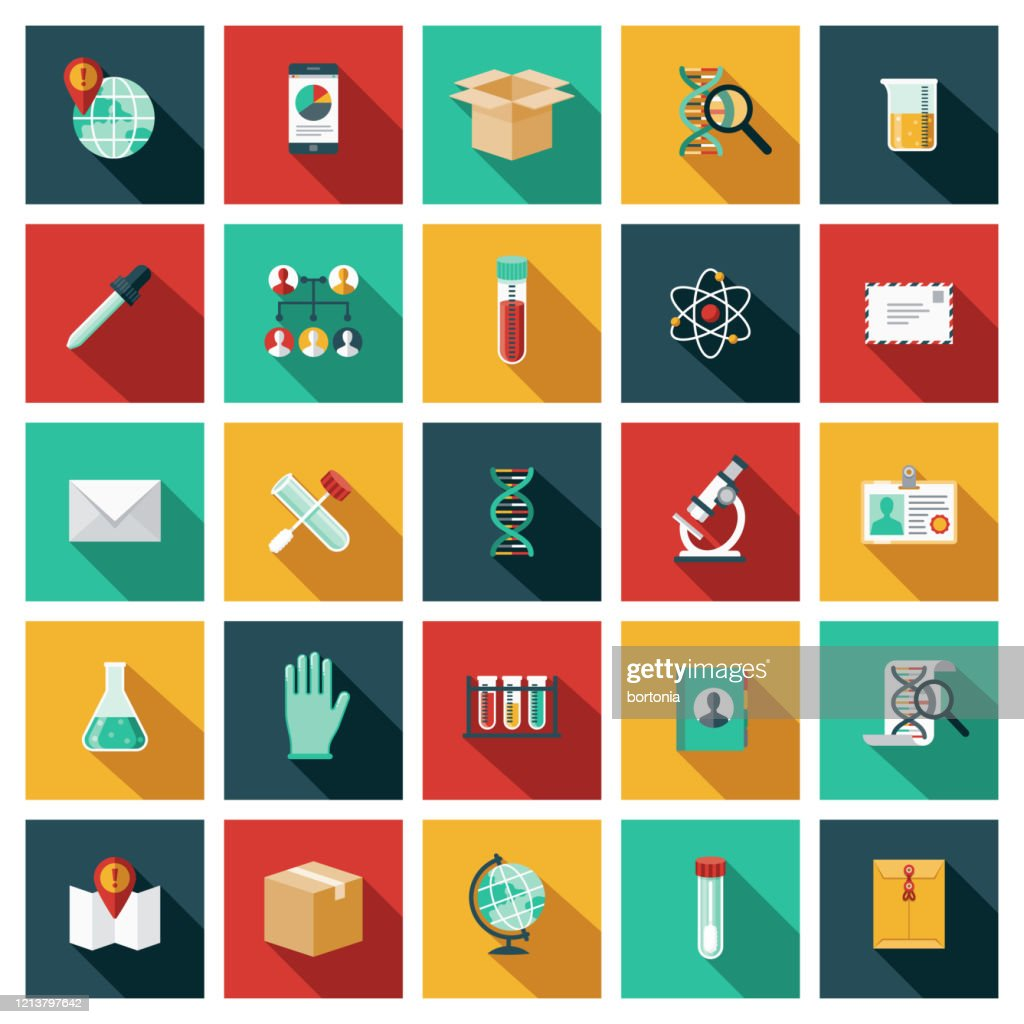 Genetic Testing Icon Set : Stock Illustration