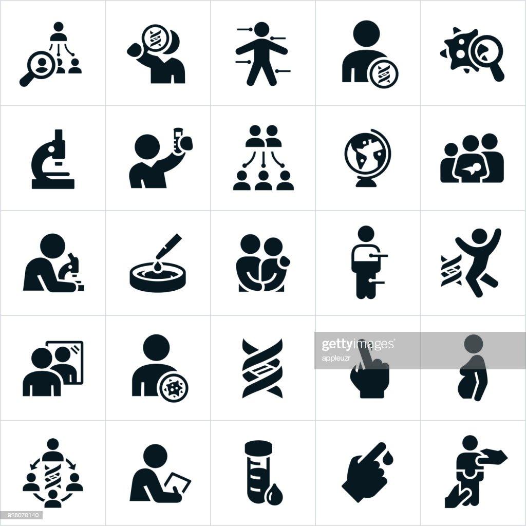 Genetic Testing Icons : stock illustration