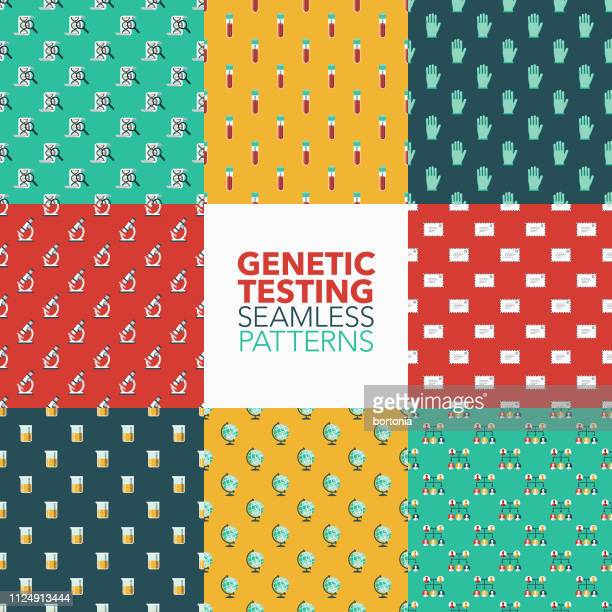 genetic testing patterns - blood test stock illustrations, clip art, cartoons, & icons