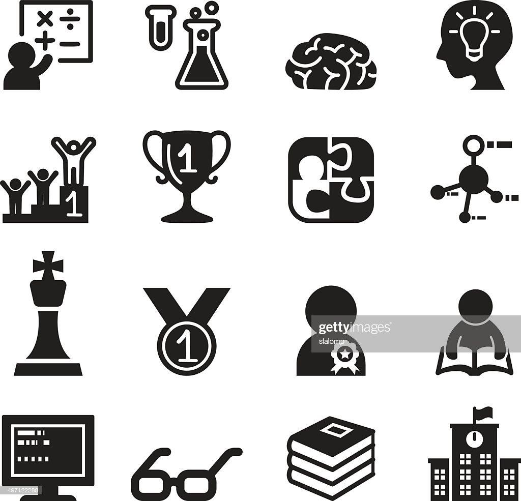 Genius & smart icons set Vector illustration