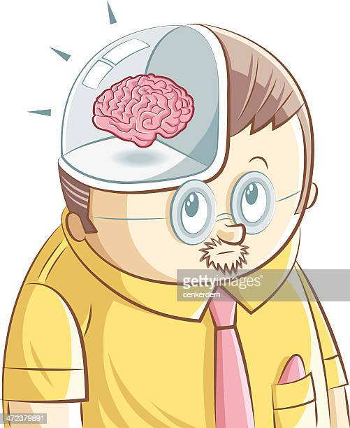 genius worker - androgynous stock illustrations, clip art, cartoons, & icons