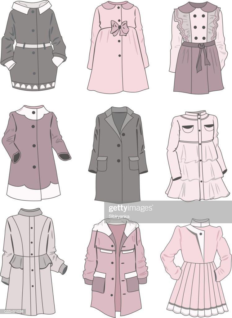 Gentle coats for little girls