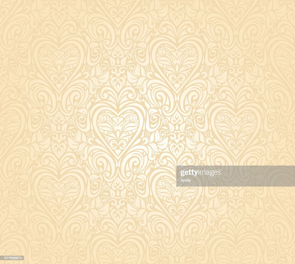 Gentle Peach Seamless Wedding Floral Background High Res Vector