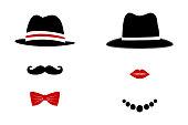 Gentleman and Lady Symbols