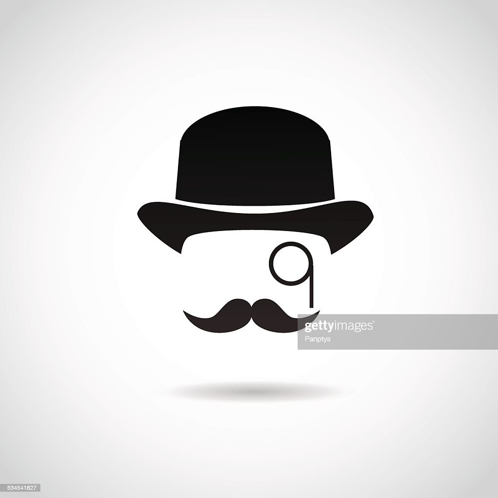 Gentleman icon isolated on white background.