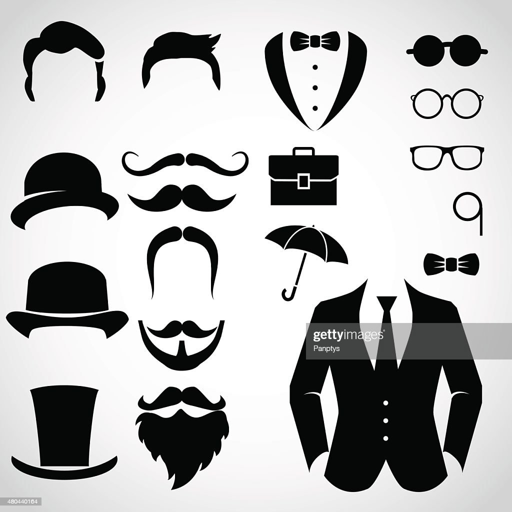 Gentleman icon set.